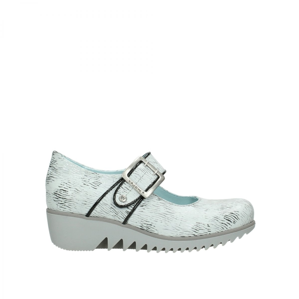 Wolky Comfort Mary Janes Silky B01N7SB379 41 M EU|70110 White/Black Canal Leather