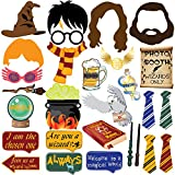 28pc Magical Wizard School Photo Booth Props For Children Birthday Party Supplies,Dress Up Novelty Decorations