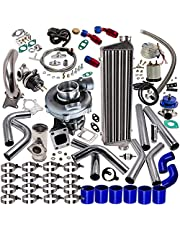 maXpeedingrods T3 T4 T04E Universal Turbo Turbocharger Piping Kit Intercooler External Wastegate