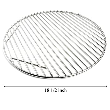 onlyfire stainless steel round grid hinged cooking grate replacement for large big green egg kamado joe - Stainless Steel Grill Grates