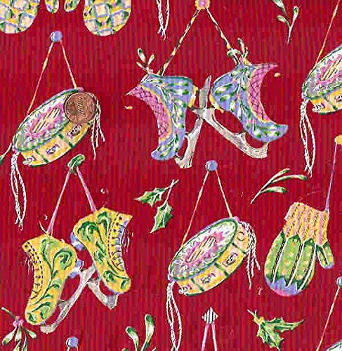 Felicity Miller Tambourines red skates Westminster fabric ()
