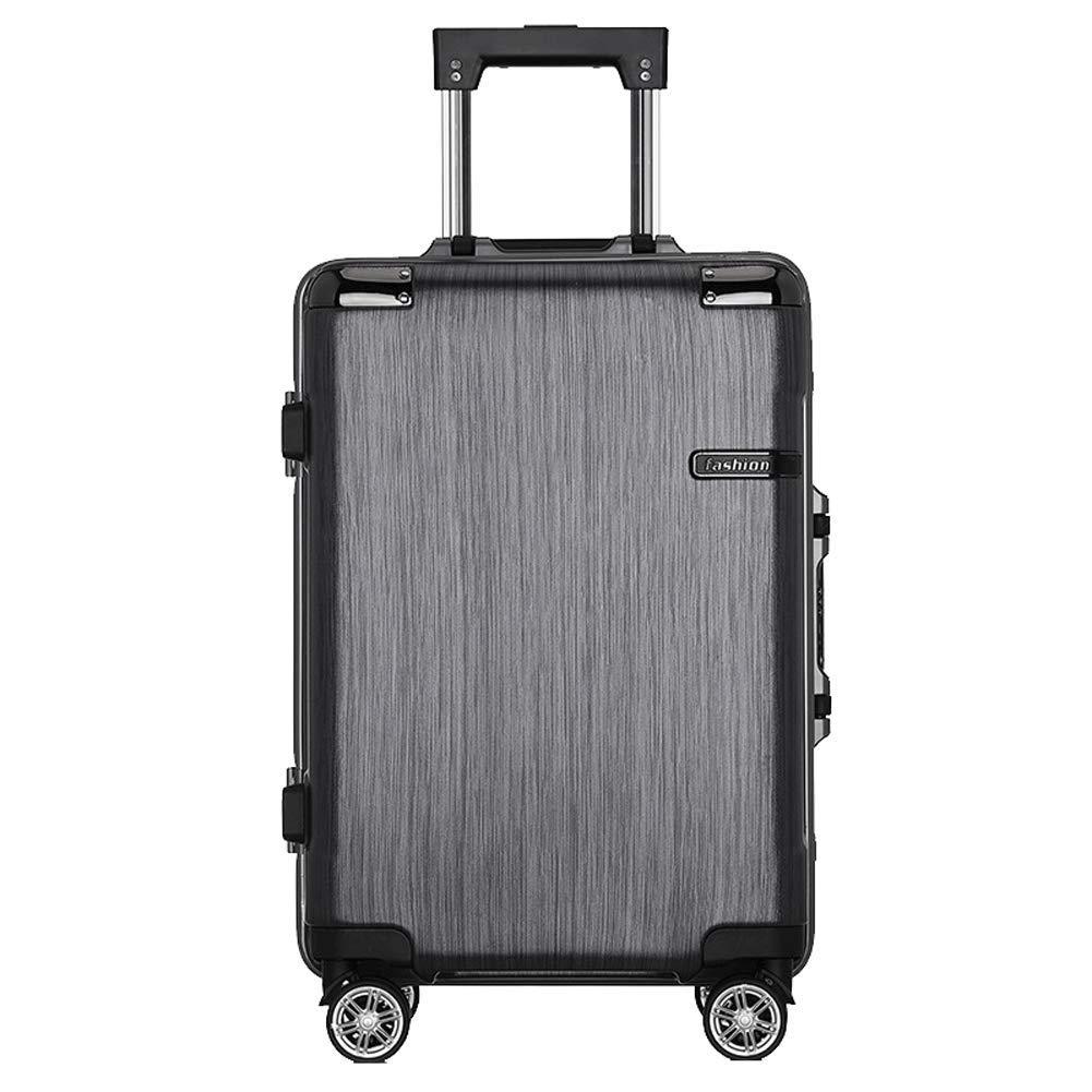ビジネススーツケースキャリーキャリー荷物ハードシェルトラベルバッグ軽量24インチ20インチ搭乗ケースユニセックスパスワードスーツケース-black- B07T5DKK4Y black S(20in)