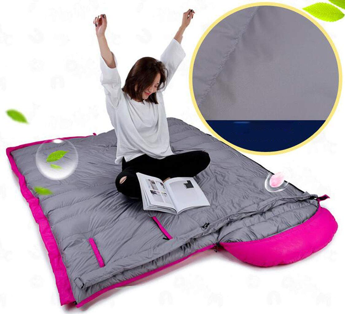 JBHURF Outdoor Camping Schlafsack Schlafsack Schlafsack Outdoor Nähte Doppel Schlafsack Tragbare Kompression Schlafsack (Kapazität   1.0kg, Farbe   Camouflage Blau) B07KJHRCDC Schlafscke Leidenschaftlicher Sport, niemals aufhören cbda7c
