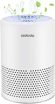 Aidodo Purificador de Aire Portátil con Filtro HEPA y UVC luz de esterilización,efectos de filtración, 99,97% de polvo, luz LED de aire limpio, bajo nivel de ruido para el hogar: Amazon.es: Bricolaje