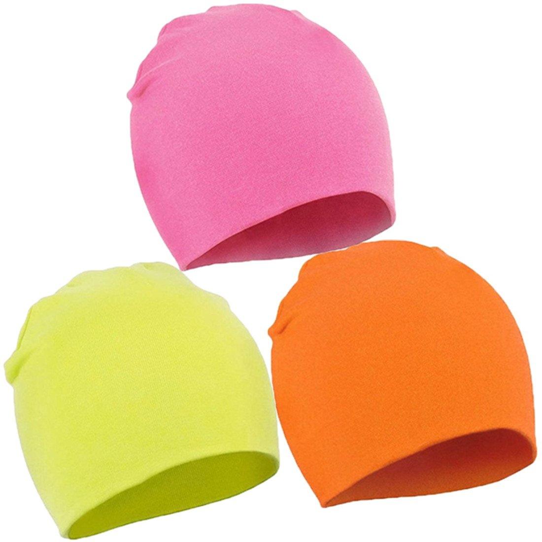 FAIRYRAIN 3 Pcs of Baby Boy Kids Girl Cotton Soft Cute Knit Kids Hat Beanies Cap 1-4 Years JKL2
