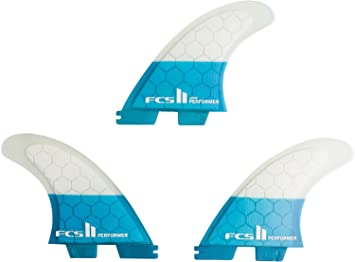 FCS II Performer PC Teal Thruster Finnen Set, M: Amazon.es: Deportes y aire libre