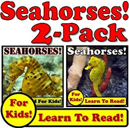 Seahorses! 2-Pack of Seahorse eBooks - Seahorse Photos And Facts Make It Fun! (Over 95+ Pictures of Different Seahorses) by [Adamsen, Cyndy, Molina, Monica]