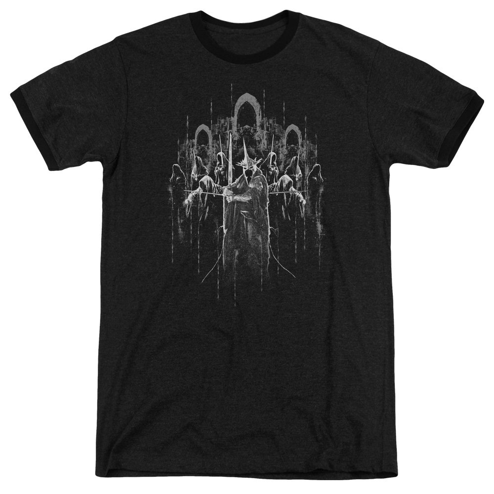 Lord of The Rings The Nine Adult Ringer T-Shirt