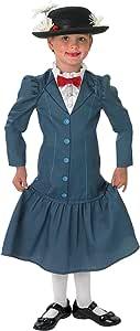 Rubies - Disfraz Oficial de los años 60 de Mary Poppins + Sombrero ...