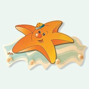 DIDA - Perchero de Madera para Niños - Estrella De Mar ...
