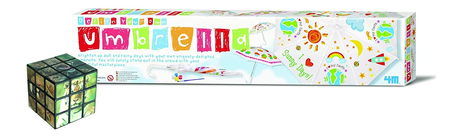 First Port of Call for Gifts Umbrella Create Your Very Own - Comes with a Fun Wild Animal Magic Cube