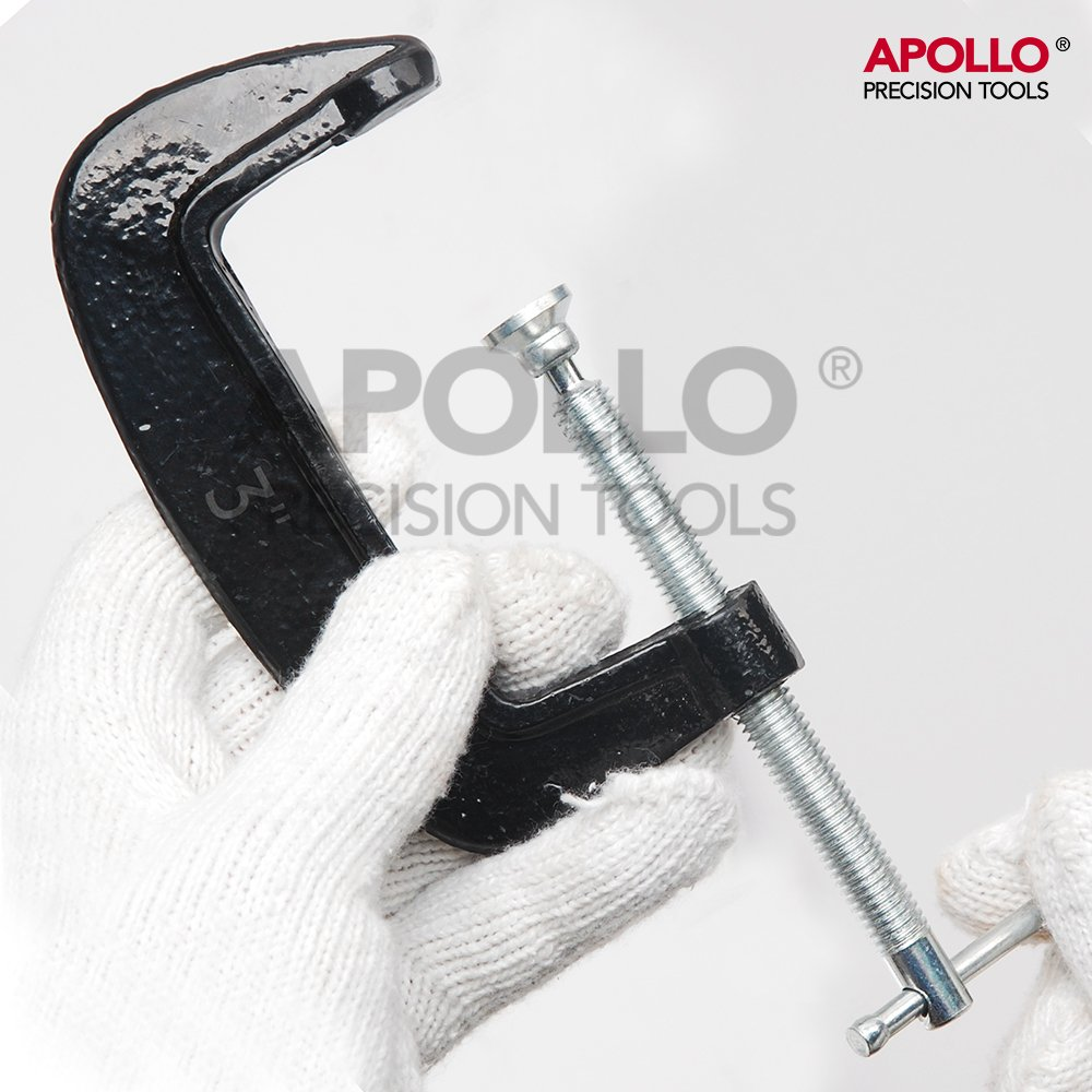 rembourrage pivotant et barre coulissante pour un montage rapide et facile 50 mm et 75 mm de large Hi-Spec Lot de 3 serre-joints pour charges lourdes avec ouvertures de 25 mm