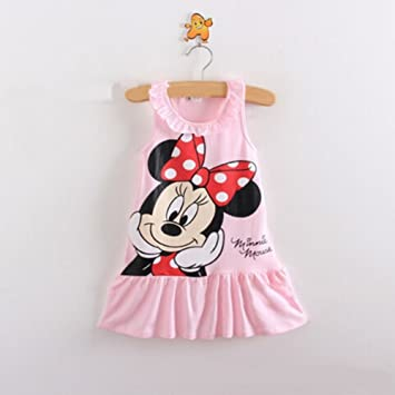 af1ccd3047b72 Image Unavailable. Image not available for. Color: summer toddler pink girls  dress clothing children suit for girl kids minnie mouse clothes set Vest