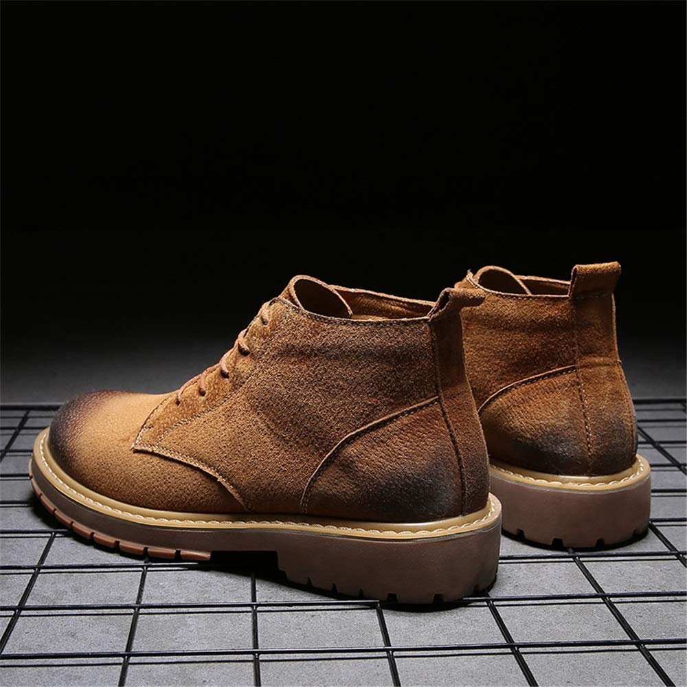Stivale da Lavoro alla alla alla Caviglia da Uomo Casual colore Solido Allacciatura in Alto Scarpe da Cricket cd40c4