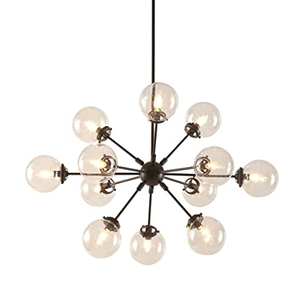 Amazon inkivy 12 lights oversized bulb sputnik chandelier inkivy 12 lights oversized bulb sputnik chandelier bronze finish modern dining room pendant lighting aloadofball Choice Image