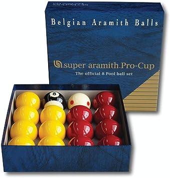 Aramith Super Pro-Cup 8 - Set de pelotas de billar (50,8 mm): Amazon.es: Deportes y aire libre