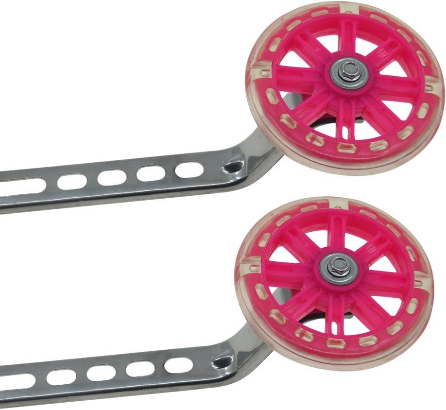 PengXiang ruedines para bicicleta infantil 12, 14, 16, 18y 20pulgadas, 1par Seguridad ruedines, niño, Pink-B
