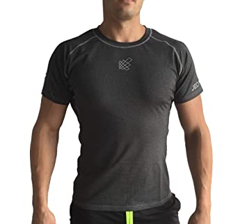 b18b2ed2f Jed North Men's Short Sleeve Tee Compression T Shirt Bodybuilding Workout  Slim Fit