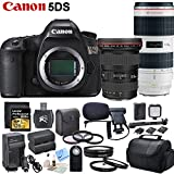 Canon EOS 5DS Digital SLR Camera + Canon EF 70-200mm f/2.8L IS II USM Lens + Canon EF 16-35mm f/2.8L II USM Lens & CS Kit - International Version