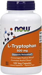 Now Supplements, L-Tryptophan 500 mg, 120 Veg Capsules