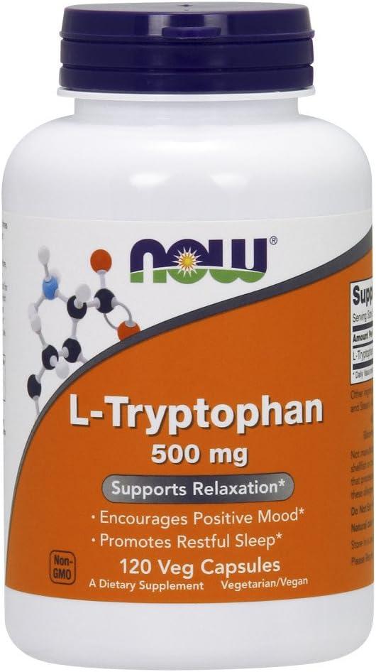L Triptofano Tryptophan 500mg (120 VCaps) Now Foods por NOW