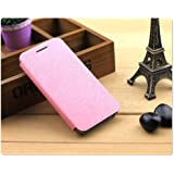 Heartly Premium Luxury PU Leather Flip Stand Back Case Cover For HTC One A9 - Cute Pink