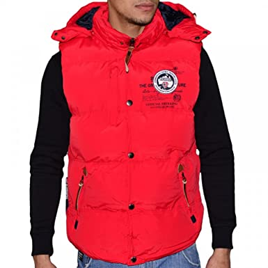 Geographical Sans Veron Norway Doudoune Rouge Manches Homme Hwz6PxHf