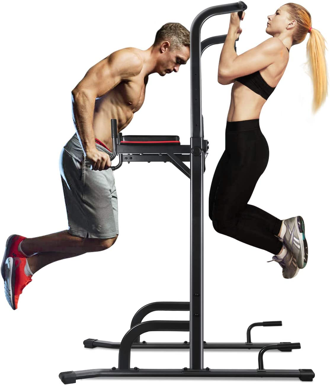 MaxKare 4 Level Adjustable Power Tower Workout Dip Stand