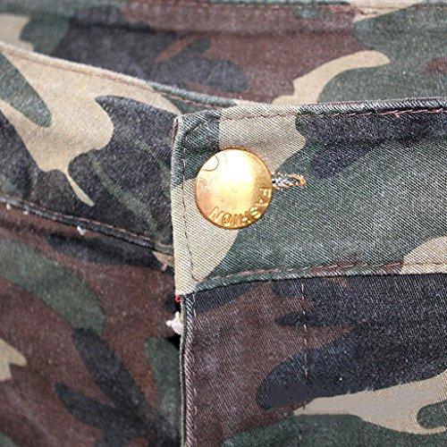 Mini A Jeans Strappati Byjia Tagliato Womens Caldi Clubwear Vita Pantaloni Bassa Pantaloncini Picture Camuffamento Color Short Donne Nightclub Denim qE88wzvO6
