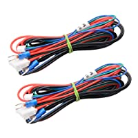 Wangdd22 2pcs/lot A8 A6 Heated Bed Line 90cm Hot Bed Wire Hotbed Cable for Mendel RepRap i3 3D Printer