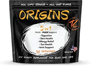 Rogue Pet Science | Origins 5-in-1 Dog Powdered Supplement | Includes Vitamins, Minerals, Fish Oils and More to Support Canine Hips, Joints, Skin & Coat, Allergies, and Gut Health