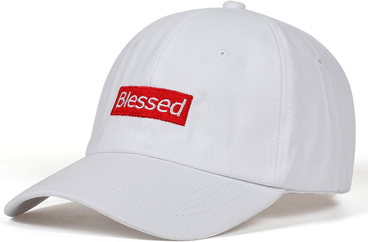 NAAO New Blessed Embroidered Dad Cap Adjustable Style Unconstructed Baseball Cap Men Women Fashion Cap Bone Garros