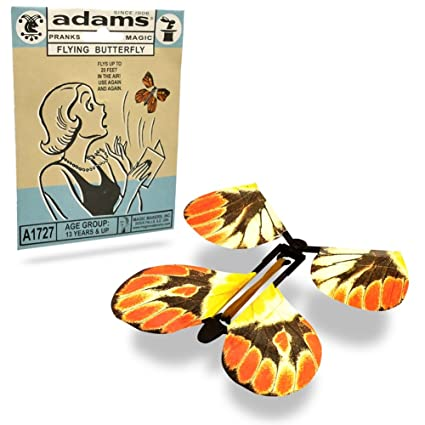 Adams Pranks and Magic - Flying Butterfly - Classic Novelty Gag Toy  sc 1 st  Amazon.com & Amazon.com: Adams Pranks and Magic - Flying Butterfly - Classic ...