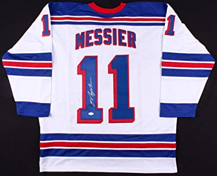 the best attitude cfcea ad013 Mark Messier Autographed Signed New York Rangers Jersey ...