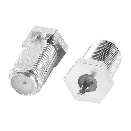 2 Piezas de Soldadura Hembra Tipo F para Antena de televisión Enchufe Cable coaxial Conector RF