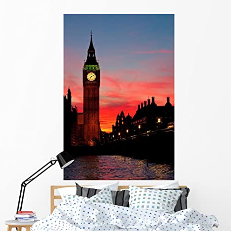 Amazon.com: Big Ben de Londres Reloj de pared mural por ...