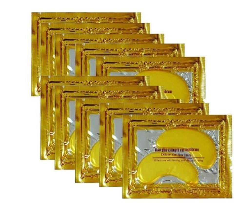 24K Gold Powder Gel Collagen Eye Masks Sheet Patch, Anti Aging,Remove Bags,Dark Circles &Puffiness,Anti Wrinkle,Moisturising,Hydrating,Uplifting Whitening,Remove Blemishes &Blackheads (30 Pairs) by Vandarllin