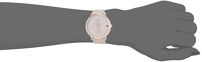 Tommy Hilfiger Reloj Multiesfera para Mujer de Cuarzo con Correa en Cuero 1781946: Amazon.es: Relojes