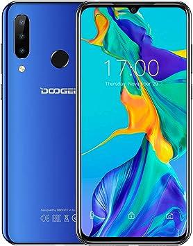 Teléfono Moviles (2020), DOOGEE N20 Smartphone Libres 6.3 Pulgadas FHD + Display, 4GB+64GB con Cámara Gran Angular 16MP +8MP +8MP +16MP, 4350mAh, Carga Rápida de 10W, Android 9.0, 4G Dual SIM- Azul: