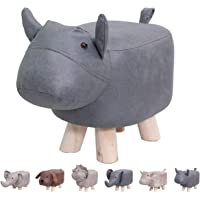 Animal Footstools Ottomans Padded Cushion Footstool Pouffe Stool Rest Seat Sofa Chair kids learning Stool Elephant Bench…