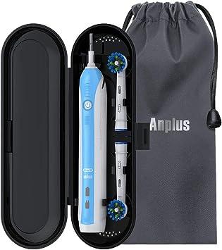Oral B - Estuche de viaje (con bolsa de terciopelo suave para cepillos de dientes eléctricos Oral B, 1 pieza de mano y 2 cabezales de recambio), color negro: Amazon.es: Salud y