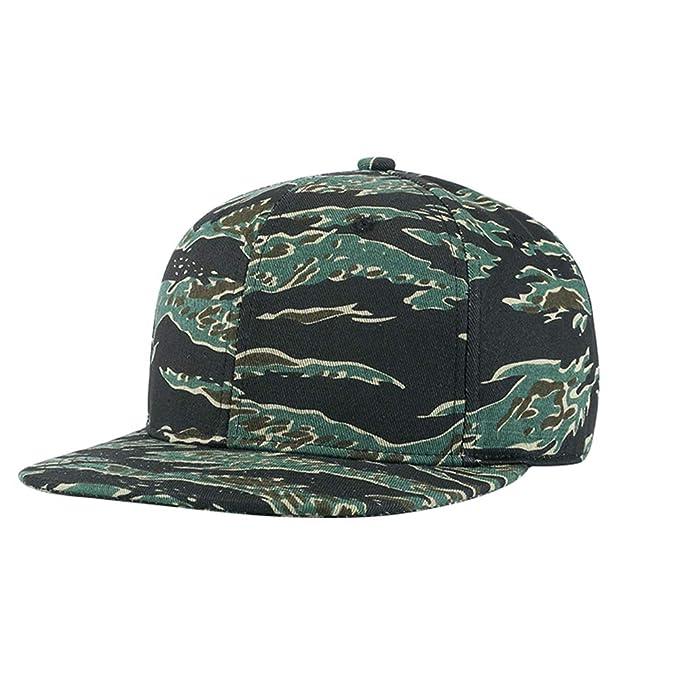 fangkuai-hat Ajustable Camo Gorras Planas Mujer Hombre Exterior ala Plana  Hip Hop Gorra de Béisbol dadac25d115