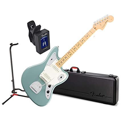 Fender American Pro Jaguar guitarra eléctrica MN Sonic gris w/caso ...