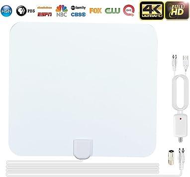 Antena TV interior potente TNT HD, 3pcs 1080P Antena TV ...