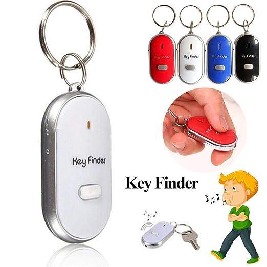 Whistle Sonido LED Llave Visor Locator Encuentre Pérdida de llaves con llavero