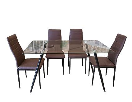 Conjunto mesa y 4 sillas de comedor: Amazon.es: Hogar
