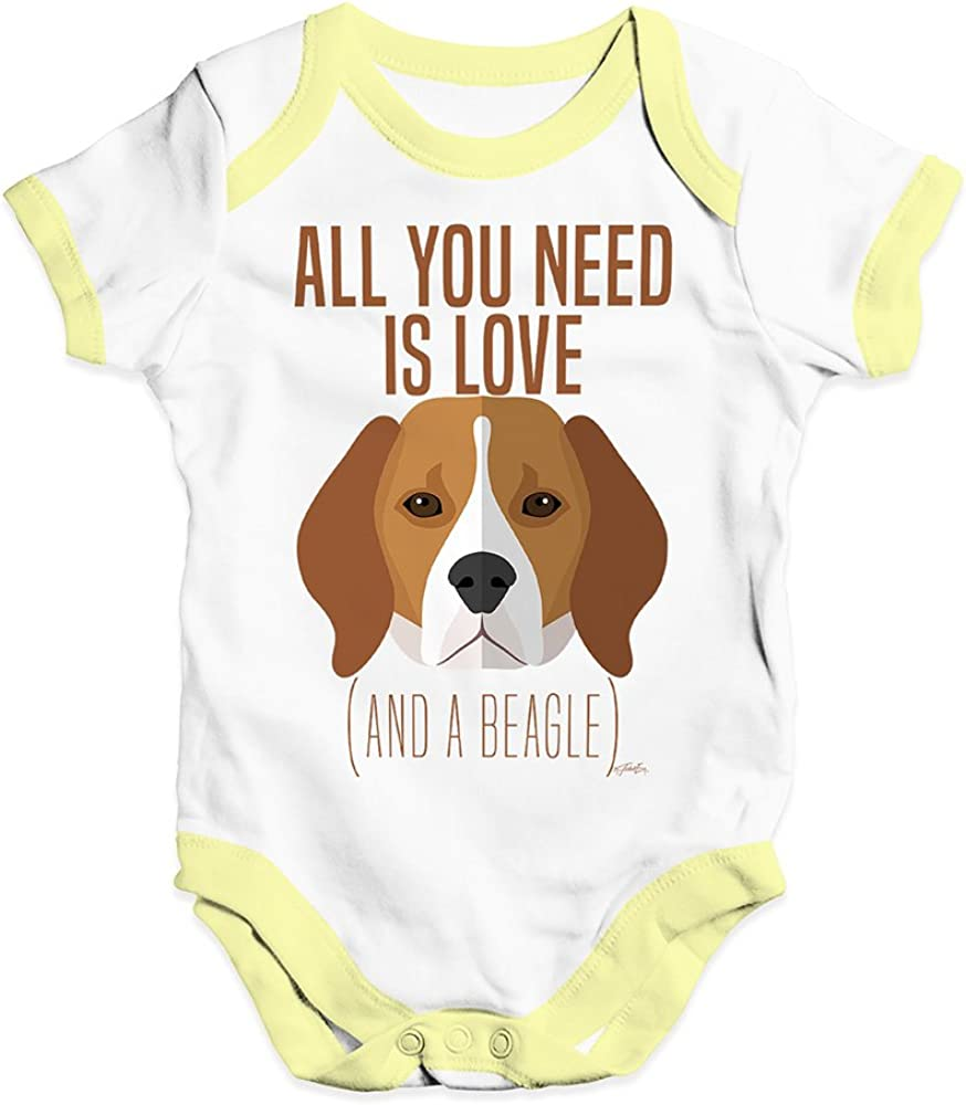 TWISTED ENVY All You Need is A Beagle Baby Unisex Funny Baby Grow Bodysuit