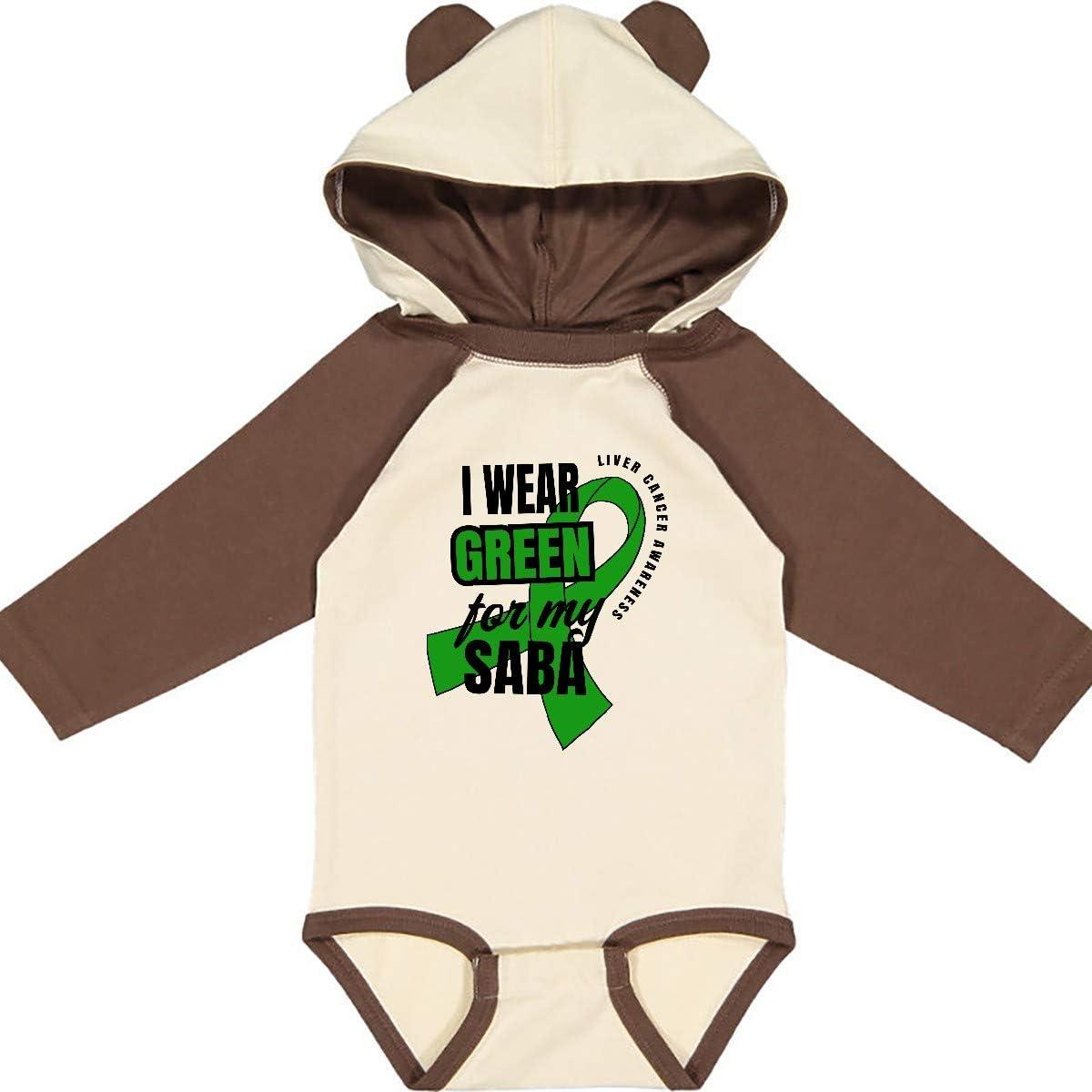 inktastic I Wear Green for My Saba Liver Cancer Awareness Long Sleeve Creeper