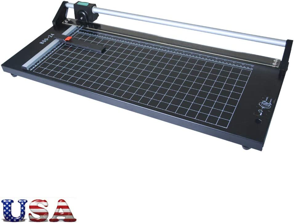 US Stock - 24 Inch Manual Precision Rotary Paper Trimmer, Sharp Photo Paper Cutter, Rotary Paper Cutter Trimmer : Office Products