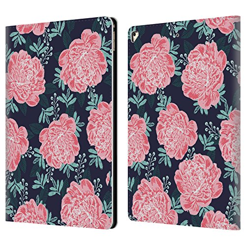 (Official Charlotte Winter Peony Navy Floral Leather Book Wallet Case Cover For Apple iPad Pro 12.9 (2017))